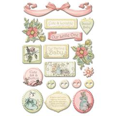 Creative Imaginations IOD 5 1/2 x 10 Lullaby Girl Epoxy Stickers