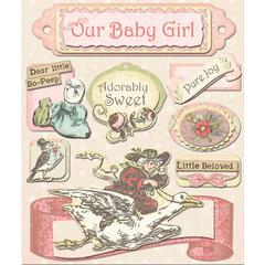 Creative Imaginations IOD 4 x 6 Lullaby Girl Layered Cardstock Stickers
