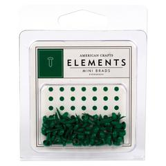 Painted Mini Brads Evergreen