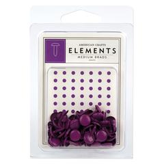 American Crafts Elements Painted Medium Brads Grape