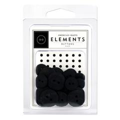 American Crafts Elements Round Buttons Black