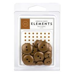 American Crafts Elements Round Buttons Copper