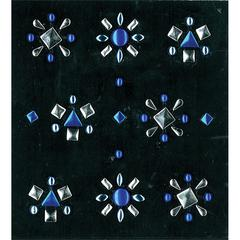 Stud Stickers Blue/Silver Mix