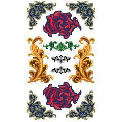 Classic Stickers Elegant Flourish