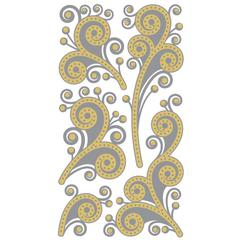 Classic Stickers Gold/Silver Flourish