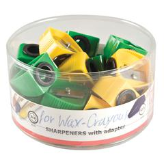 M + R Wax Crayon Sharpener Display