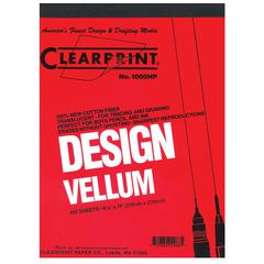 Clearprint 1000H Series 9 x 12 Unprinted Vellum 100-Sheet Pack
