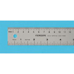 Fairgate Aluminum English/Metric Ruler