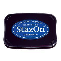 StazOn Solvent Ink Pad Ultramarine