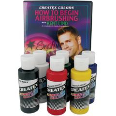Airbrush Primary 6-Color Set with DVD
