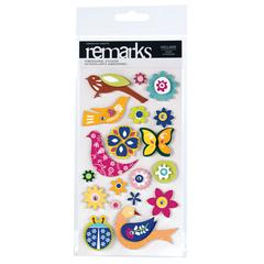 American Crafts Remarks Dimensional Stickers Holland