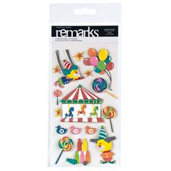 American Crafts Remarks Dimensional Stickers Carousel