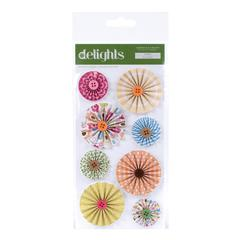American Crafts City Park Delights Folded Paper Stickers Swing