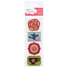 American Crafts Dear Lizzy Enchanted Adhesive Embellishments Honeysuckle