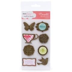 American Crafts Dear Lizzy Enchanted Adhesive Embellishments Charming