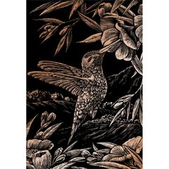 Engraving Art Set Copper Foil Hummingbird