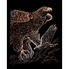 Engraving Art Set Copper Foil Hawks