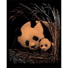 Engraving Art Set Copper Foil Panda & Baby