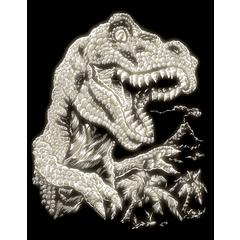 Engraving Art Set Glow In The Dark Foil Tyrannosaurs