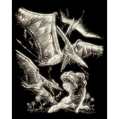 Royal & Langnickel Engraving Art Set Glow In The Dark Foil Pterodactyl