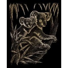 Royal & Langnickel Engraving Art Set Gold Foil Koala Bears