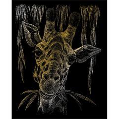 Engraving Art Set Gold Foil Giraffe