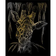 Royal & Langnickel Engraving Art Set Gold Foil Giraffe