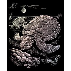 Royal & Langnickel Engraving Art Set Holographic Foil Sea Turtle