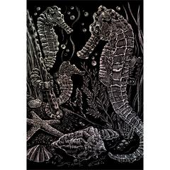 Royal & Langnickel Engraving Art Set Holographic Foil Sea Horses