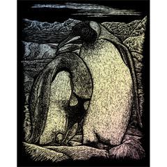Royal & Langnickel Engraving Art Set Holographic Foil Emperor Penguins