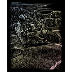 Engraving Art Set Holographic Foil Motorcycle Racing