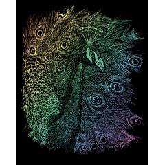 Engraving Art Set Rainbow Foil Peacock