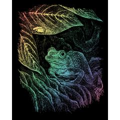 Engraving Art Set Rainbow Foil Frog