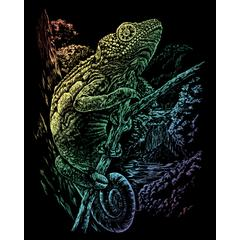 Engraving Art Set Rainbow Foil Chameleon