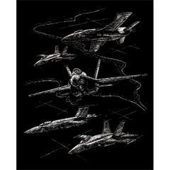 Royal & Langnickel Engraving Art Set Silver Foil Jet Planes