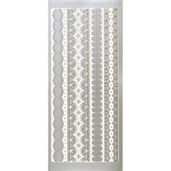Stickers Silver Lace Borders