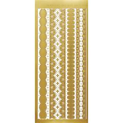 Dazzles Stickers Gold Lace Borders