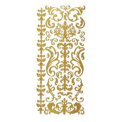 Stickers Gold Swirl Flourish