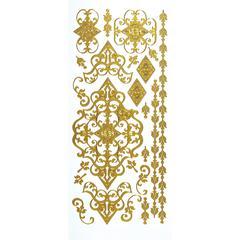Dazzles Stickers Gold Flourish