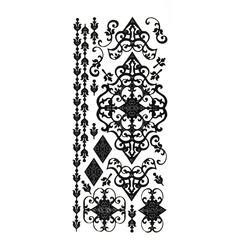 Dazzles Stickers Black Flourish