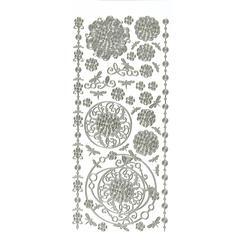 Dazzles Stickers Silver Aqua Lily