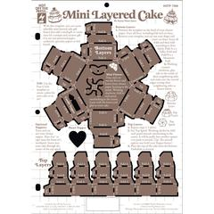 "8.5"" x 12"" Papercrafting Template Mini Layer Cake"