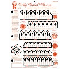 "Hot Off the Press 8.5"" x 12"" Papercrafting Template Easi-Pleat Flower"