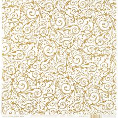 Hot Off the Press Color Me 12 x 12 Paper Gold Swirls