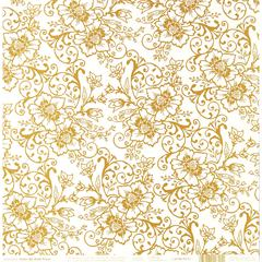 12 x 12 Paper Gold Floral