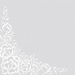 12 x 12 Paper White Corner Blossoms