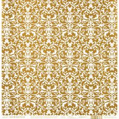 Hot Off the Press Color Me 12 x 12 Paper Gold Flourish