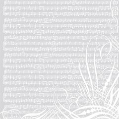 12 x 12 Paper White Music Notes