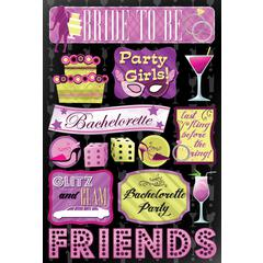 Cardstock Stickers Bride To Be