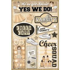 Cardstock Stickers Cheer Camp
